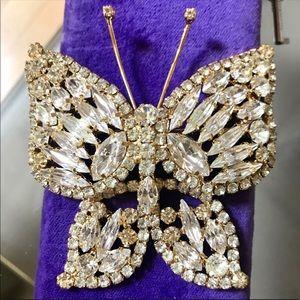 Vintage Juliana style butterfly brooch prong set